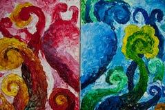 Pintura de petróleo do coração Imagem de Stock