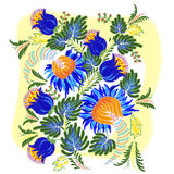 Pintura de Petrykivsky Imagem de Stock