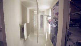 Pintura de pulverizador industrial vídeos de arquivo