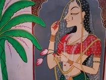 Pintura de Rajasthani Imagen de archivo libre de regalías