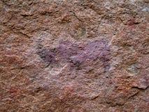 Pintura de Rino do bosquímano Fotos de Stock Royalty Free