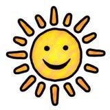 Pintura de Sun Fotos de archivo libres de regalías