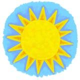 Pintura de Sun ilustração stock