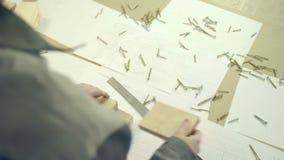 Pintura de trabajo del arquitecto almacen de video