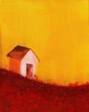 Pintura de uma casa da exploração agrícola ilustração stock