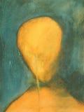 Pintura de uma face Imagens de Stock