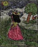 Pintura de uma menina ideal fotos de stock royalty free