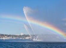 Pintura de un arco iris Fotos de archivo libres de regalías