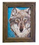 Pintura de un lobo del artista con el capítulo Imagen de archivo libre de regalías