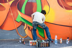 Pintura de una pared Foto de archivo