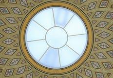 Pintura de vidro redonda da abóbada e do teto foto de stock royalty free