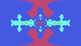 A pintura decorativa das cores do arco-íris espalhou do fundo movente da animação do teste padrão da forma do laço dos seamles a  ilustração royalty free