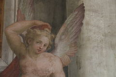 Pintura decorativa em Roma fotografia de stock royalty free