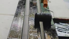 Pintura del acero almacen de video