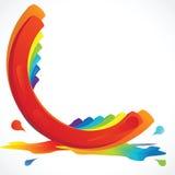 Pintura del arco iris Fotos de archivo