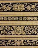 Pintura del arte del estampado de plores del templo Imágenes de archivo libres de regalías