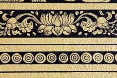 Pintura del arte del estampado de plores del templo Imagen de archivo libre de regalías