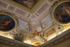Pintura del arte del techo en el chalet Borghese, Roma imagen de archivo libre de regalías