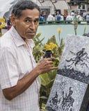 Pintura del artista en la calle en Caracas Venezuela, retrato fotografía de archivo libre de regalías