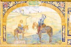 Pintura del azulejo en Sevilla Fotos de archivo libres de regalías