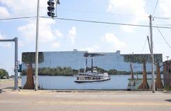 Pintura del barco de vapor, Marion Arkansas foto de archivo