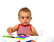 Pintura del bebé Fotografía de archivo