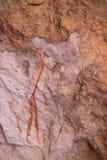 Pintura del bosquimano del arte de la roca de San Foto de archivo