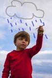Pintura del cabrito en el cielo Fotos de archivo