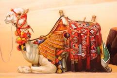 Pintura del camello Fotos de archivo