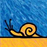 Pintura del caracol stock de ilustración