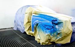 Pintura del coche. Imagenes de archivo