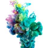 Pintura del color de Absract en agua imagen de archivo libre de regalías