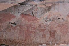 Pintura del color de la prehistoria Fotos de archivo libres de regalías