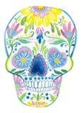 Pintura del cráneo del azúcar Fotos de archivo libres de regalías