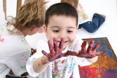 Pintura del dedo imagen de archivo libre de regalías