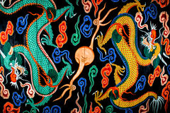 Pintura del dragón en la puerta de Namdaemun en Seul, Corea Fotografía de archivo