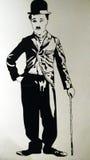 Pintura del ejemplo de Charlie Chaplin Imágenes de archivo libres de regalías