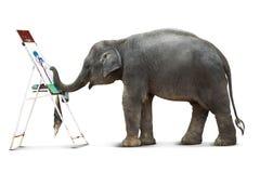 Pintura del elefante Fotografía de archivo libre de regalías