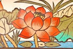 Pintura del estilo chino del arte en la pared del templo Foto de archivo libre de regalías