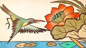 Pintura del estilo chino del arte en la pared del templo Fotos de archivo