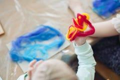 Pintura del fieltro del niño Imagen de archivo libre de regalías