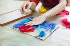 Pintura del fieltro del profesor Foto de archivo libre de regalías