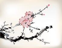Pintura del flor Fotografía de archivo