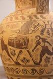 Pintura del florero del griego clásico Imágenes de archivo libres de regalías