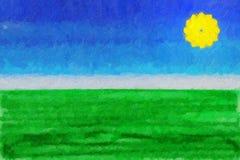 Pintura del fondo del niño stock de ilustración