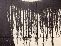 Pintura del goteo en una pared Imagen de archivo