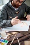 Pintura del hombre Fotografía de archivo