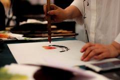Pintura del hombre fotos de archivo libres de regalías