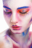Pintura del maquillaje Fotos de archivo libres de regalías