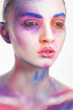 Pintura del maquillaje Imagen de archivo libre de regalías